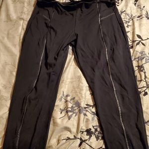 Leather Strip Leggings